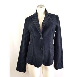 Banana Republic Size 14 Blue Pinstripe Blazer